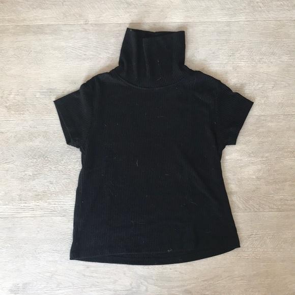 Brandy Melville Tops - Black turtleneck t shirt